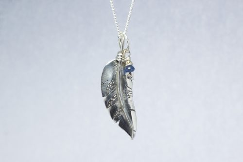 Orenda's bespoke jewellery - Feather and Sapphire